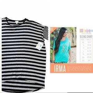 LuLaRoe Irma XL Grey Black NWT